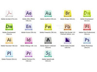 ADOBE PHOTOSHOP, INDESIGN, ACROBAT PRO, ILLUSTRATOR CS6,etc... PC/MAC