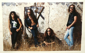 METALLICA GROUP POSTER FROM 1991, VINTAGE AND RARE!