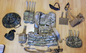 Airsoft MultiCam molle carrier, gear, loadout