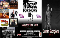 Relay for Life Rock for hope Cancer fudriaser