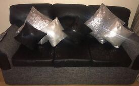 2 & 3 leather settees
