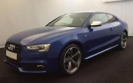 2016 BLUE AUDI S5 3.0 TFSI QUATTRO BLACK EDITION COUPE CAR FINANCE FR £100 PW