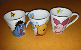 Set of 3 Disney Winnie the Pooh Mugs