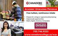Academic Upgrading Program, Parry Sound, Canadore College