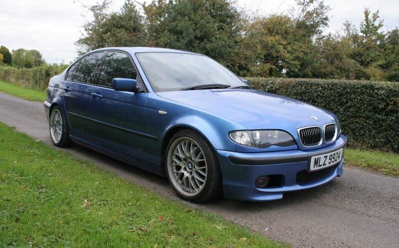 2004 bmw 320d m sport individual estoril blue e46 coilovers bbs deep dish wheels in. Black Bedroom Furniture Sets. Home Design Ideas