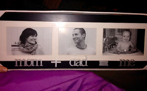 "3 Photo picture frame ""Mom+Dad=Me"" 4x6 Peterborough Peterborough Area image 1"