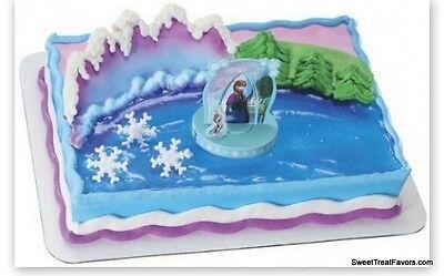 FROZEN ELSA Party CAKE TOPPER Birthday Kit Set Decoration Cupcake Anna Olaf Snow (Olaf Birthday Cake)