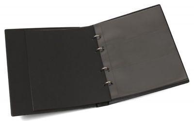 KOBRA Banknotenalbum mit 10 Blättern für 30 Banknoten schwarz