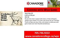 Cooking with Wild Game, Canadore College, Parry Sound