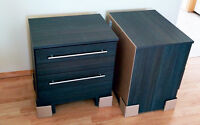Brand new Matching Pair of Grey Wood Style Night Stands $195