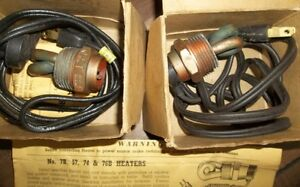 """2 - NEW CARTER BLOCK HEATERS WITH 1""""  NPT PIPE THREAD Belleville Belleville Area image 2"""