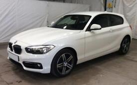 2015 WHITE BMW 120i 1.6 SPORT PETROL MANUAL 3DR HATCH CAR FINANCE FR £46 PW
