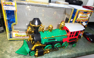 Battery Operated Smoky Express Locomotive Steam Engine Train