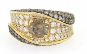 Apex heavy 18k yellow gold 3.93ct fancy diamond wedding ring