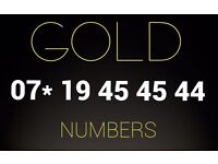 Gold VIP number SIM card 07* 19 45 45 44