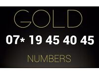 Gold VIP number SIM card 07* 19 45 40 45