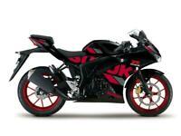 New Suzuki GSXR 125cc Motorcycle In Titan Black - 3 YEAR WARRANTY - ZERO MILES!
