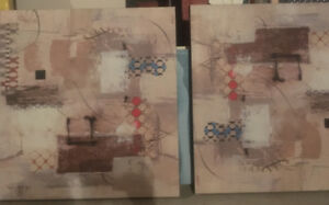 2 Canvas paintings