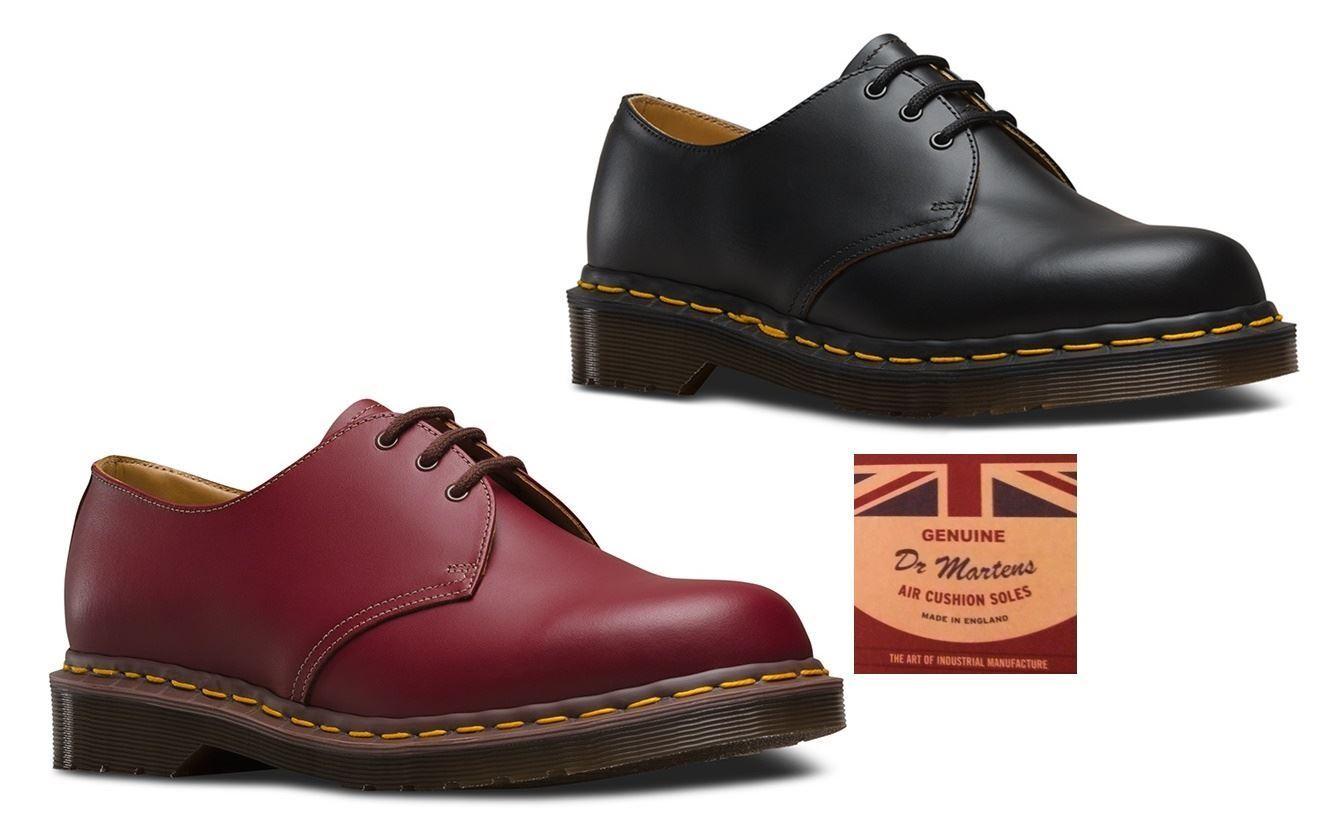 e16b8af87c988 Dr Martens 1461 Vintage Made In England 3 Eyelet Premium Leather ...
