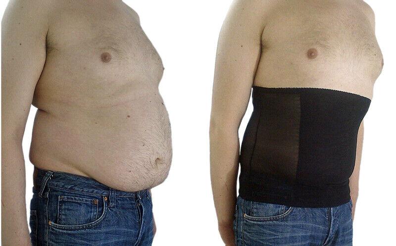 Taillenformer Bauchweggürtel Miedergürtel Body Shaper Herren Bauch Mieder