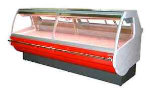 Meat Deli Cheese Salad Hot food fish display cases
