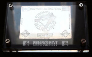 1992 TORONTO BLUE JAYS WORLD SERIES CHAMPIONS PURE SILVER CARD