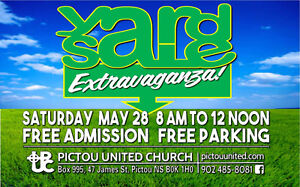 YARD SALE Extravaganza! with Bake Table, Plant Sale and Canteen.