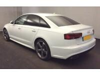 2015 WHITE AUDI A6 2.0 TDI ULTRA BLACK EDITION SALOON CAR FINANCE FROM 71 P/WK