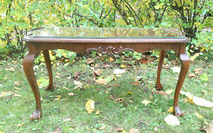 Antique Chippendale French Provincial Clawfoot Coffee Table