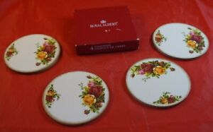Set of 4 Cork Coasters Old Country Roses by Royal Albert