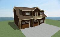Plans de maisons, architecte, architecture, batiments