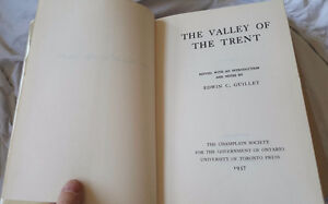 THE VALLEY OF THE TRENT BOOK BY EDWIN C. GUILLET CANADA Kingston Kingston Area image 3