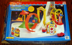 1992 Vintage Fisher Price Little People Fun Park - New, Mint