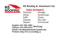 RE-ROOFING SERVICE - FREE ESTIMATE @ 6479960315