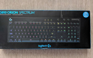 2 Logitech G810 Orion Spectrum Gaming Keyboards