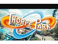 Thorpe Park Tickets x 3 Valid from March 2017 - September 2017
