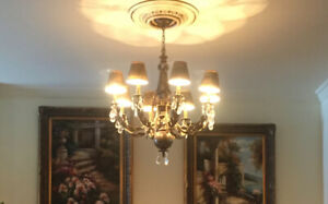 Chandelier - large (shades are removable)