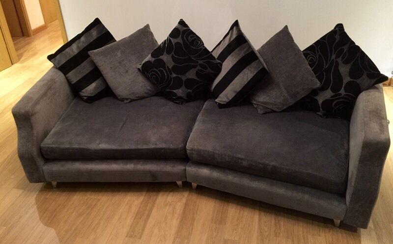 Grey And Black Fabric Sofa In Aberdeen Gumtree