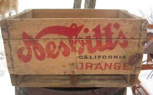 Caisse Boite de bois Nesbitt's Crate Brocante plusieurs !