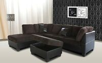 BRAND NEW SECTIONAL WITH OTTOMAN ON SALE ONLY $699
