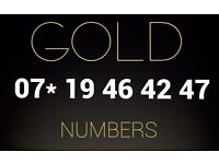 Gold VIP number SIM card 07* 19 46 42 47