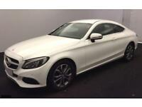 2016 WHITE MERCEDES C220 2.1 SPORT DIESEL AUTO COUPE CAR FINANCE FR £83 PW