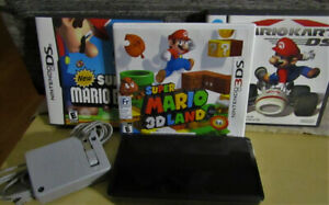 Nintendo 3DS with 3 mario games