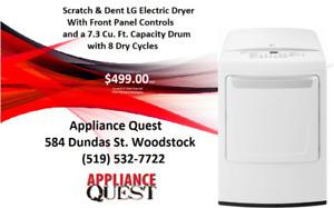 LG Scratch&Dent Electric Dryer