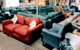 Many types Sofas Settees Clearance Sale now on. RBW Clearance Outlet L