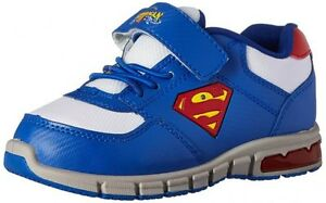 SUPERMAN Light Up Running Shoes Sneakers Size 11