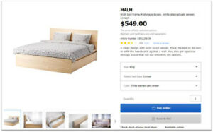 MALM King Size Bed Frame