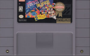 Tetris and Dr. Mario All in One Rare Super Nintendo Game