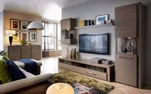 5 Piece Living Room Set - TV Unit, Storage A5 Malaga Swan Area Preview
