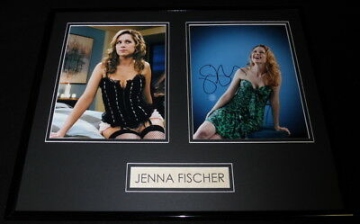 Jenna Fischer Signed Framed 16X20 Photo Display Aw The Office